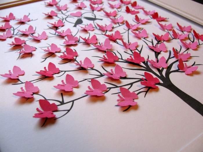 Бабочки декор стен своими руками - оригинальные идеи на фото
