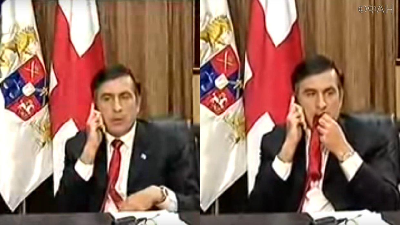 саакашвили ест галстук гифка нашем сайте