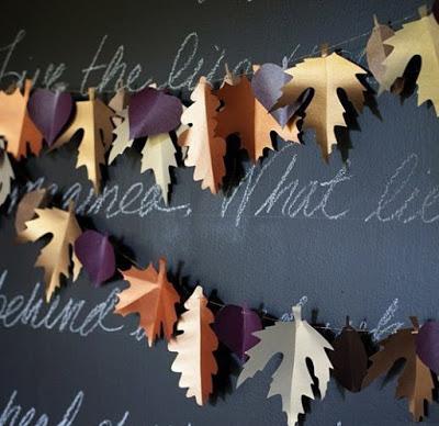 Осенние листья из бумаги сво…