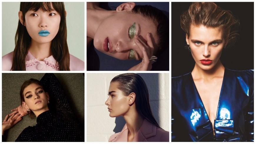 Праздничные beauty-образы: алые губы, эффект мокрых волос и 80-е