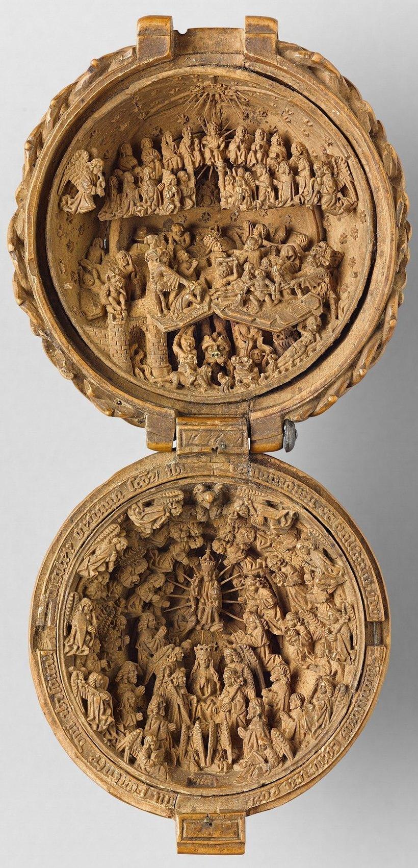 Самшитовые миниатюры 16 века, которые можно разглядеть только с помощью рентгена