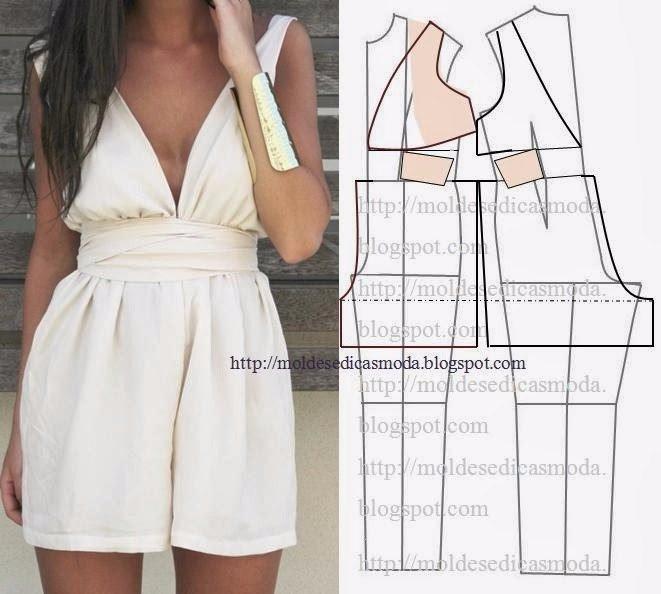 Моделируем летние комбинезоны с шортами выкройка,летний комбинезон своими руками,одежда,своими руками