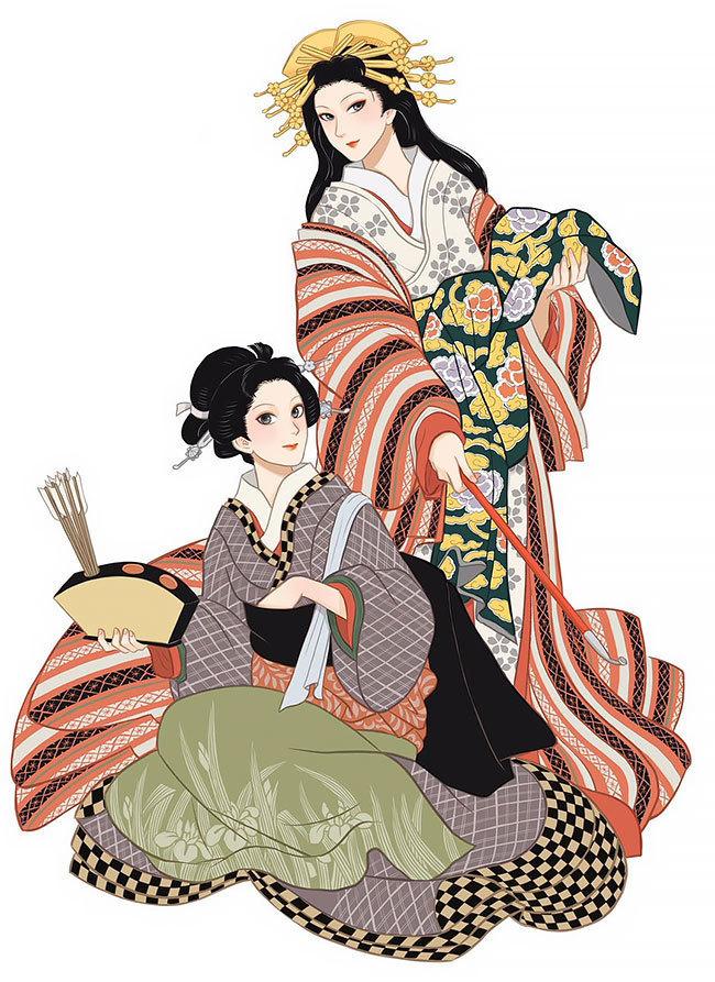Художница отдает дань уважения японской культуре и искусству