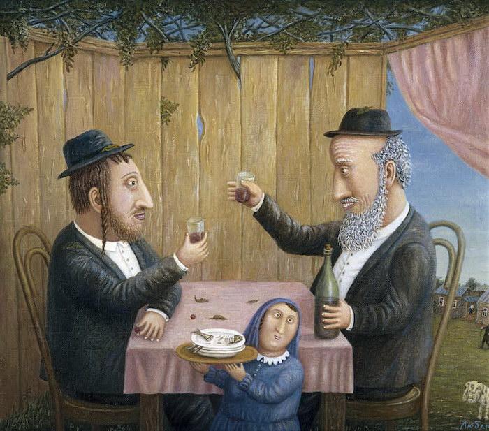 Картины Владимира Любарова: Еврейское счастье