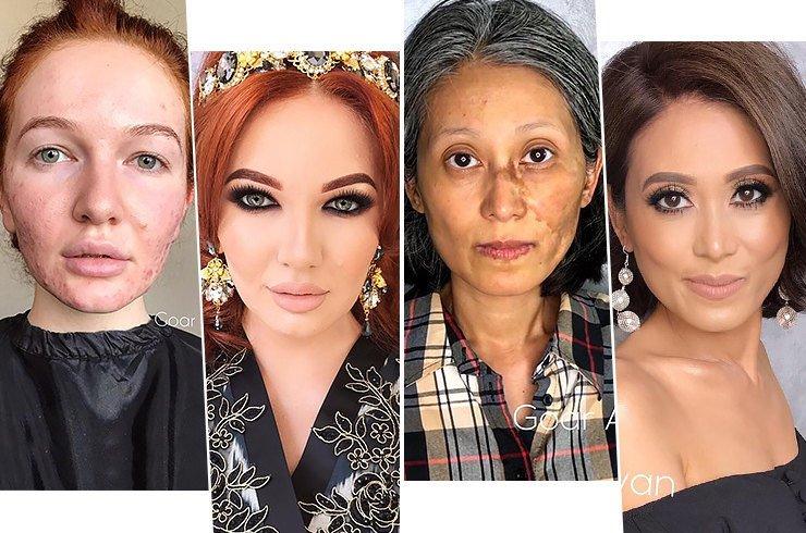 Умение профессионала без фотошопа: мейкап для трудной кожи от Гоар Аветисян.