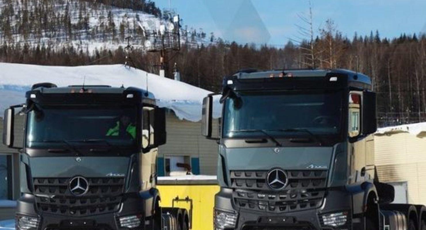 Автопарк якутской группы «Селигдара» пополнился новыми седельными тягачами Автомобили