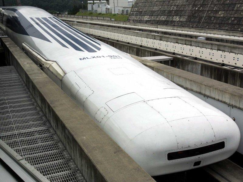 Самый быстрый поезд на магнитной подушке - японский, развил скорость 480 км/ч вагоны, железнодорожные, изобретения, поезда, рельсы, факты, фантазии