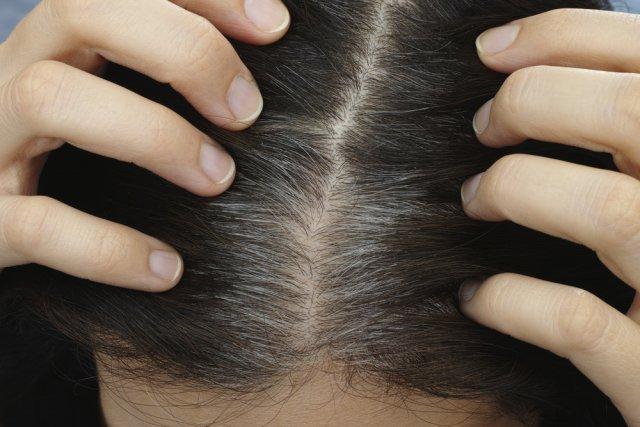 Массаж для седых волос
