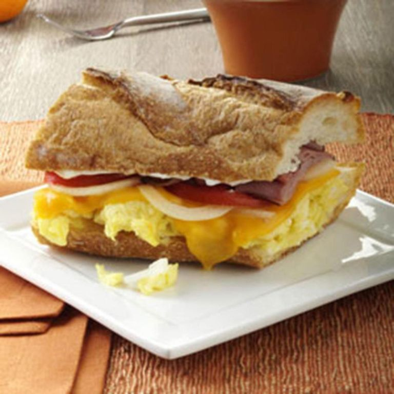 Завтрак с беконом: рецепт с фото