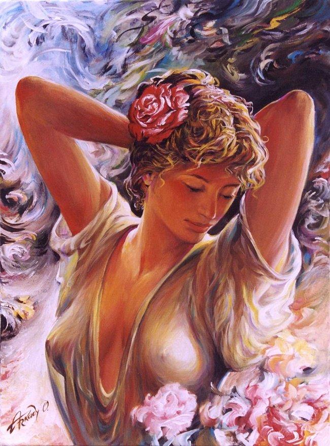 Очаровательные красотки, художник Аркадий Острицкий