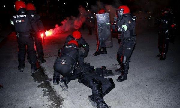 ВБильбао после столкновений…