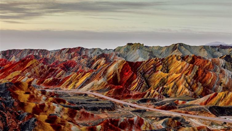 15. Цветные скалы Чжанъе Данксиа, Ганьсу, Китай красота, мир, природа