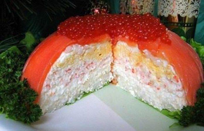 Главное блюдо праздничного стола — шикарный рыбный торт!
