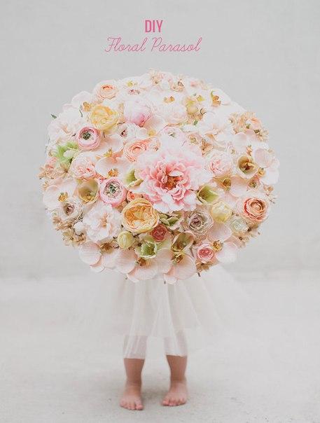 Цветочный зонтик. Мини МК