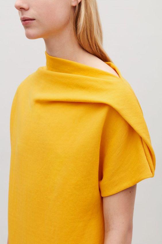 Идеи оригинального оформления верха блузок и платьев 1