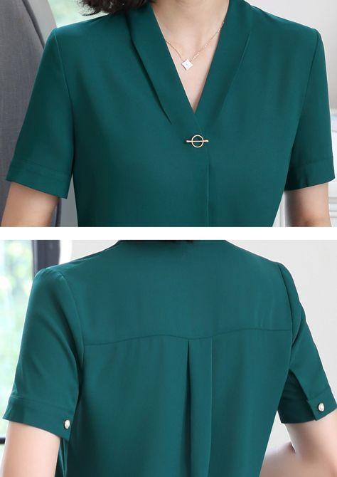 Идеи оригинального оформления верха блузок и платьев 7