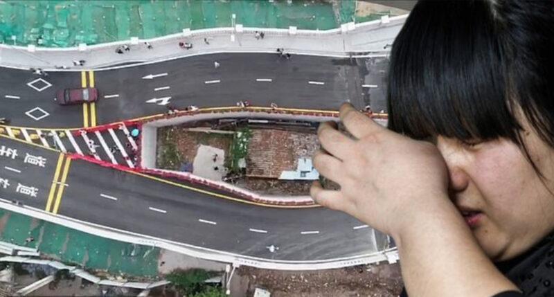 Жительница Китая пожадничала итеперь живет посреди шоссе интересное,интересные люди,интересные факты,история,ужас,шок