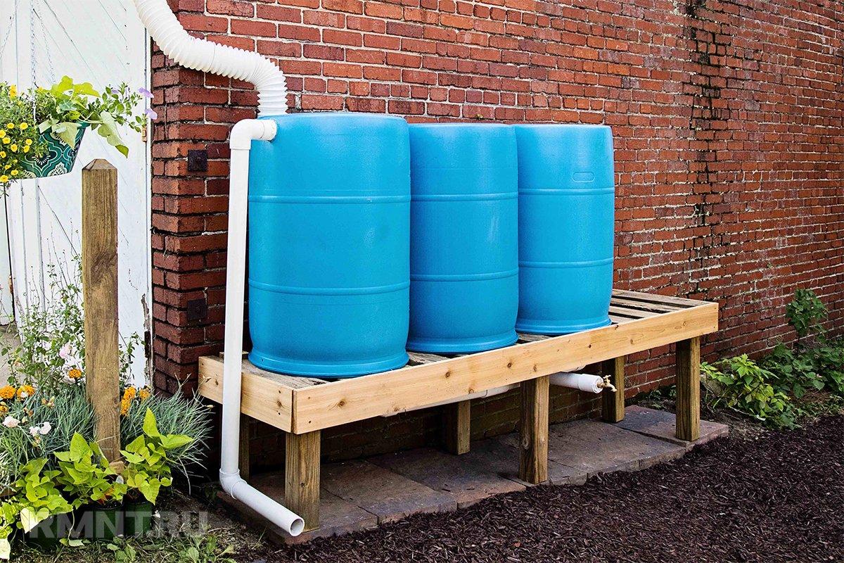 Организация сбора дождевой воды на участке благоустройство территории,дача,сад и огород