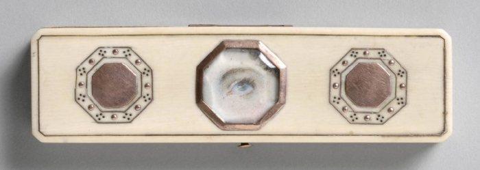 Портрет на коробочке для зубочисток, около 1800 года. | Фото: atlasobscura.com.