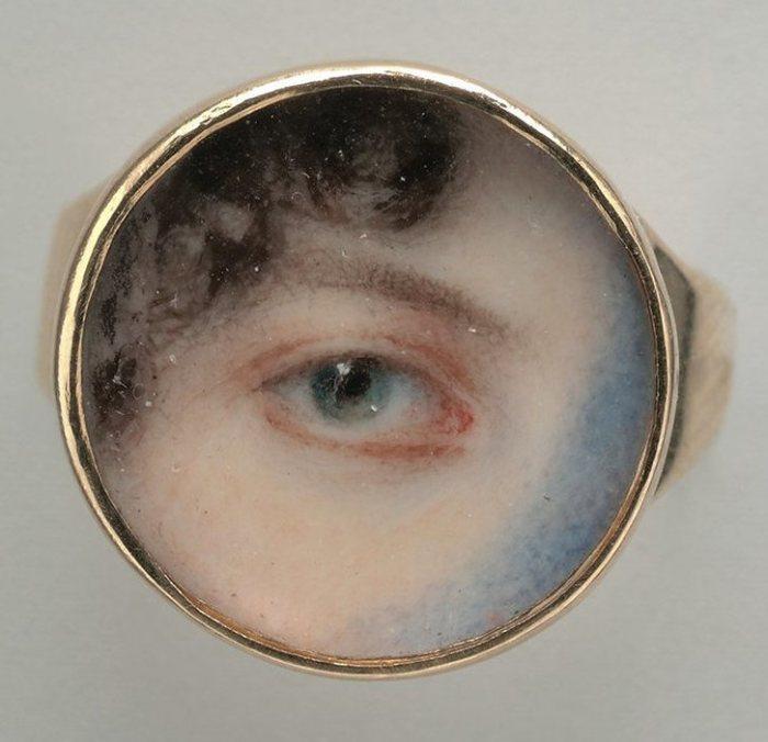 Глаз Марии Майлс Хейвард. Эдвард Грин, 1802 год. | Фото: metmuseum.org.