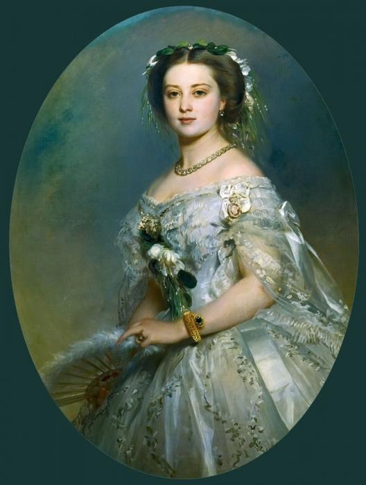 Леди Констанция Левесон-Гоуэр (1834-80), позднее герцогиня Вестминстер. Автор: Франц Ксавер Винтерхальтер.