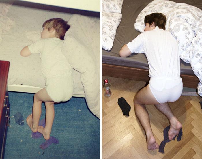 Люди решили воссоздать свои любимые детские фотографии, и результат получился весьма забавным