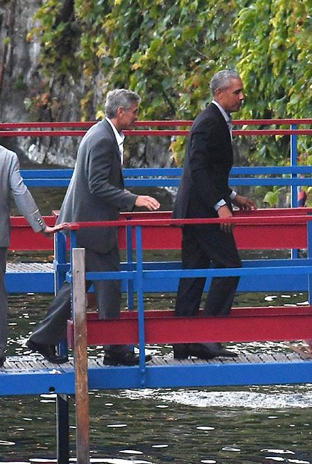 Барак и Мишель Обама побывали в гостях у Амаль и Джорджа Клуни на озере Комо: фото Звезды,Звездные пары