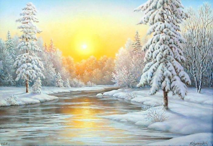 Зима. Автор: Владимир Княгницкий.