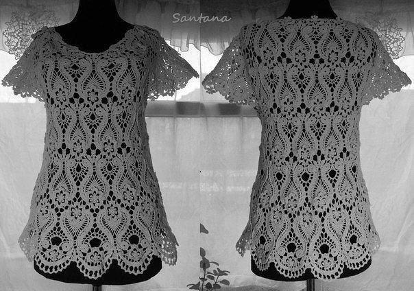 Изумительный узор для самой нарядной блузки