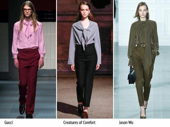 Как выбрать и носить модную блузу с бантом мода,мода и красота,одежда и аксессуары