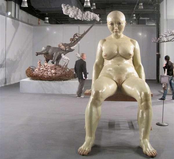 Китайский скульптор-сюрреалист Чен Вен Линг искусство, китай