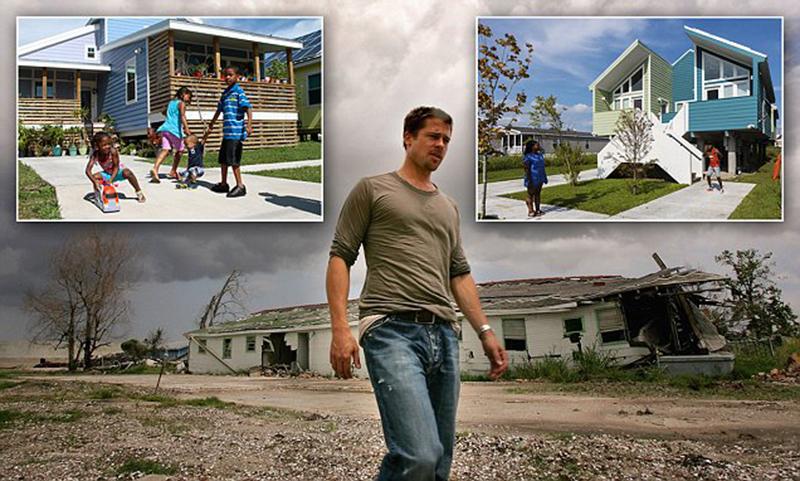 Брэд Питт построил 109 домов для пострадавших от урагана