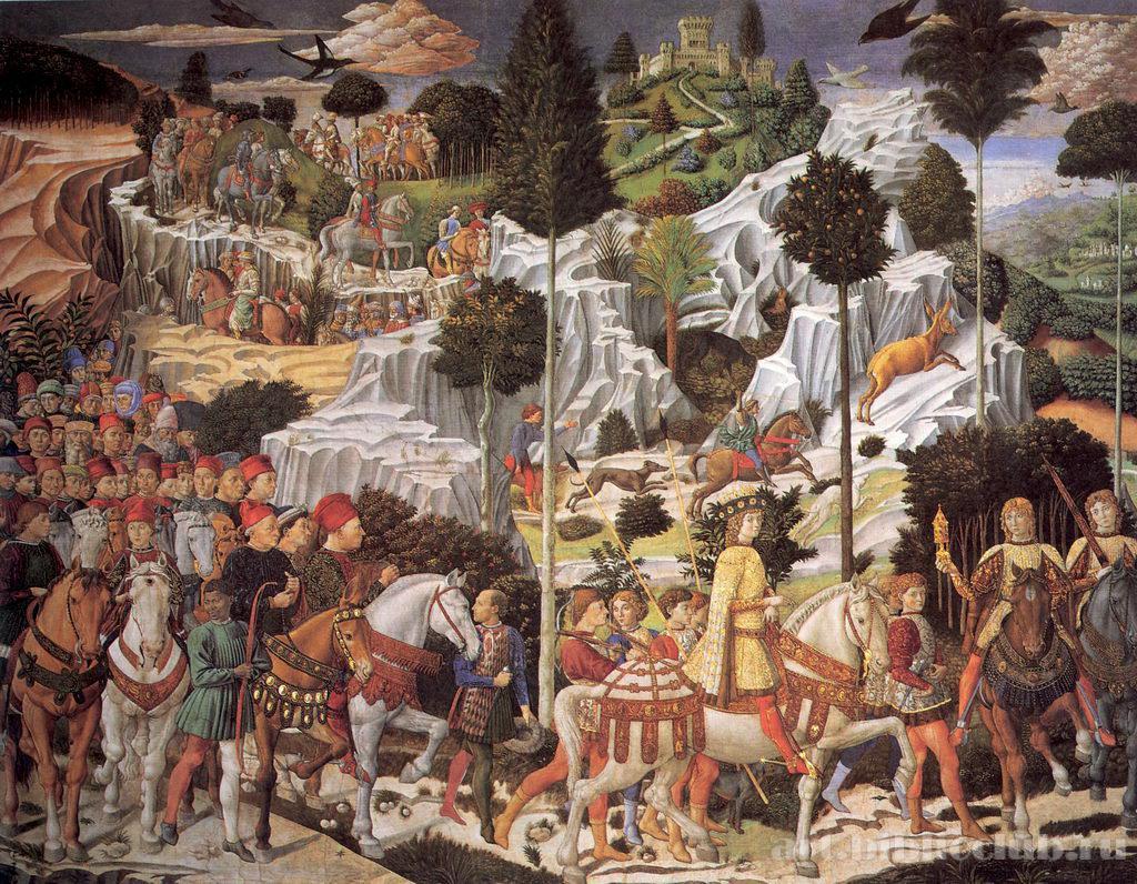 Картинки по запроÑу гоццоли поклонение волхвов
