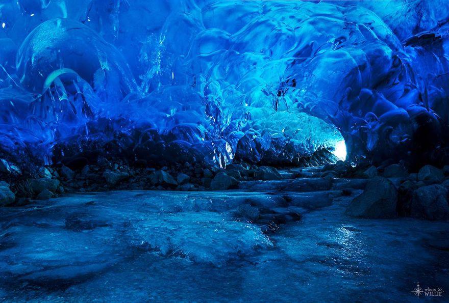 11. Ледяная пещера Менденхолл, Аляска красота, пейзажи, природа