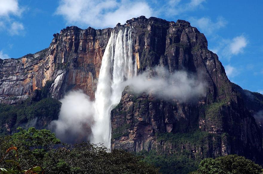 9. Водопад Анхель, Венесуэла красота, пейзажи, природа