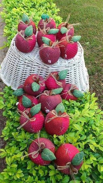Яблочки в саду. Выкройка яблока