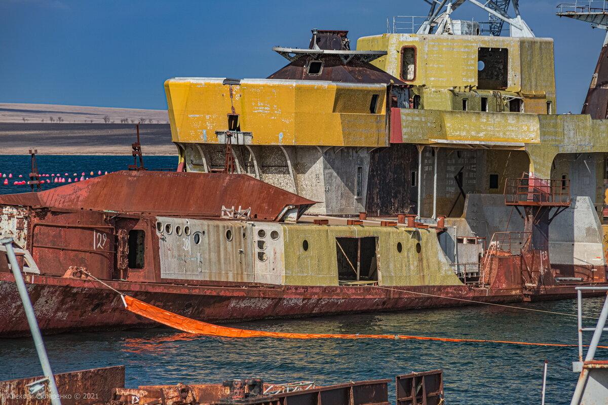 Где и как сейчас выглядит тот самый затопленный корабль, который заблокировал весь украинский флот в Донузлаве? вмф