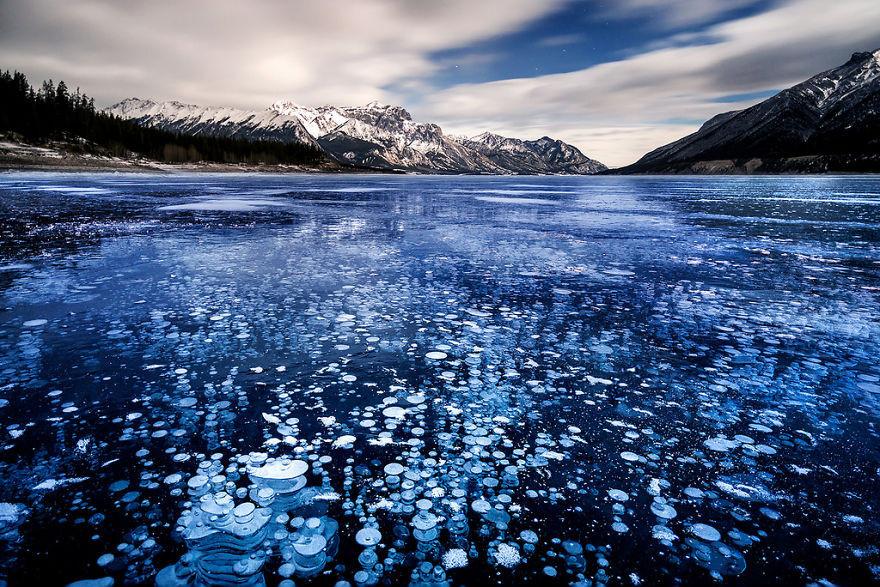 2. Озеро Эйбрахам, Канада красота, пейзажи, природа