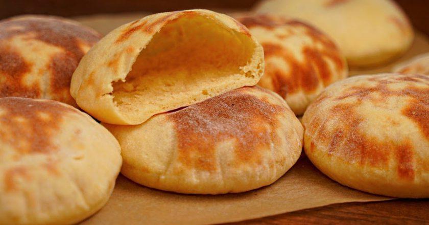 Дрожжевые лепешки из картофеля с кармашками выпечка,кулинария