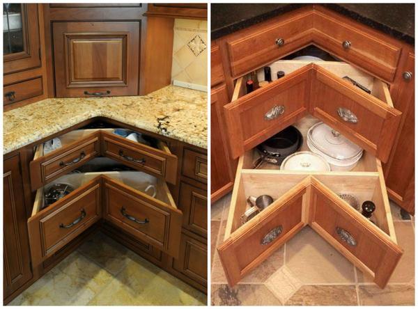 Кухонные угловые шкафы