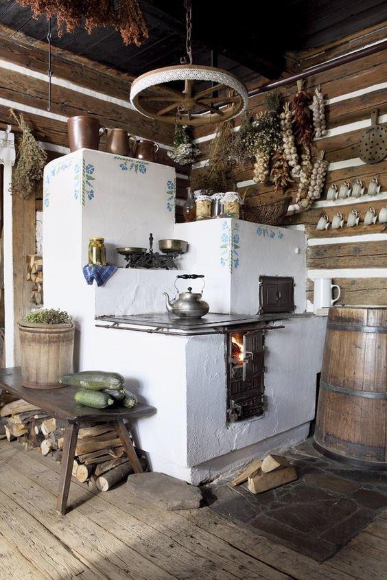 Ну конечно - все начиналось с печей. И пока город завоевывали плиты, в деревне варили по-старинке всячина, интересное, история, кухня, плита, факты