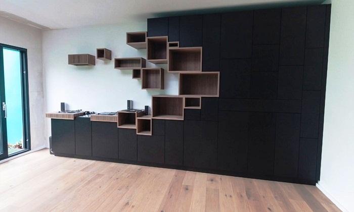 Для любителей темных тонов мебели.