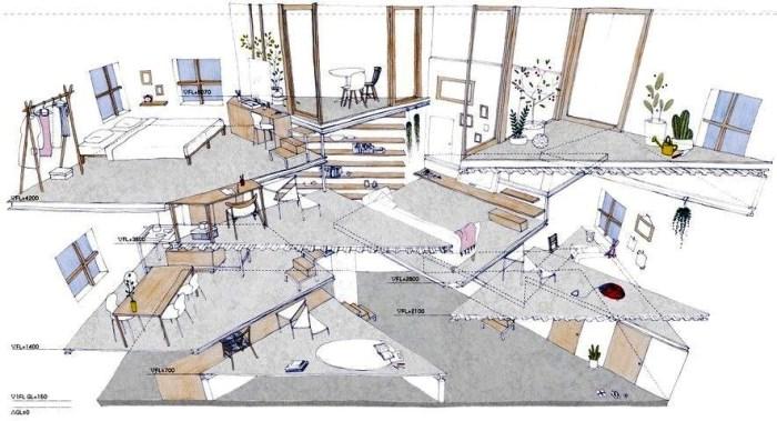 Строительство по-японски: обычная 2-этажка скрывает в себе 13 этажей-платформ архитектура,ремонт и строительство