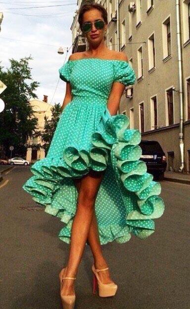 Как раскроить и как сшить платье барышня-крестьянка с юбкой с перепадом длины