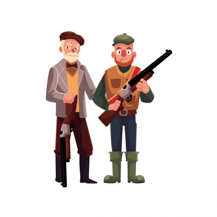 Старики-охотники....