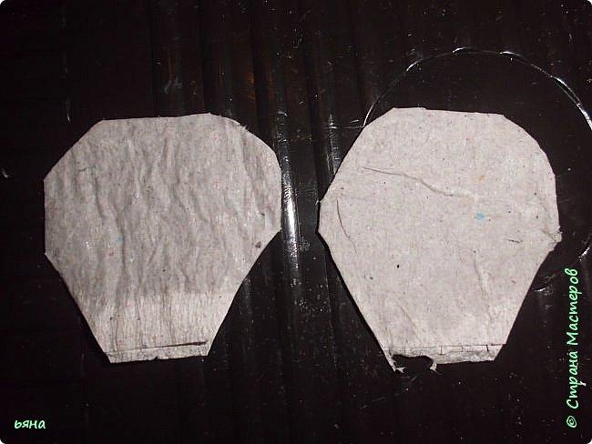 Мастер-класс Бумагопластика Кованая роза из туалетной бумаги Бумага Диски ватные Клей Краска Проволока фото 8