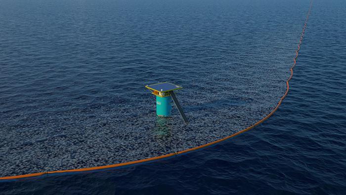 За 10 лет такая платформа поможет избавиться от 42% Большого Тихоокеанского мусорного пятна.