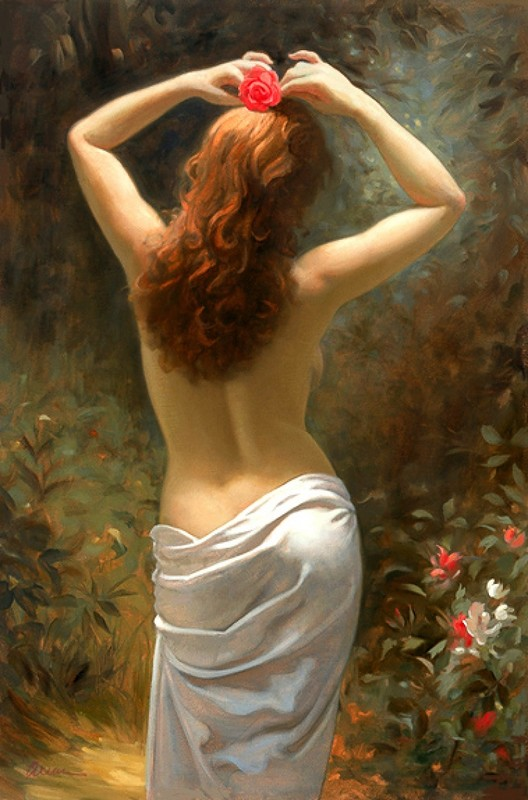 Прекрасный женский образ, художник Mark Arian