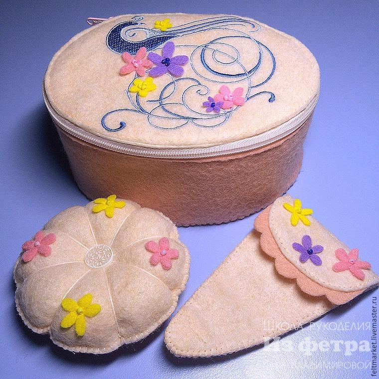 Шкатулка для рукодельницы, или ода шитью из фетра вручную