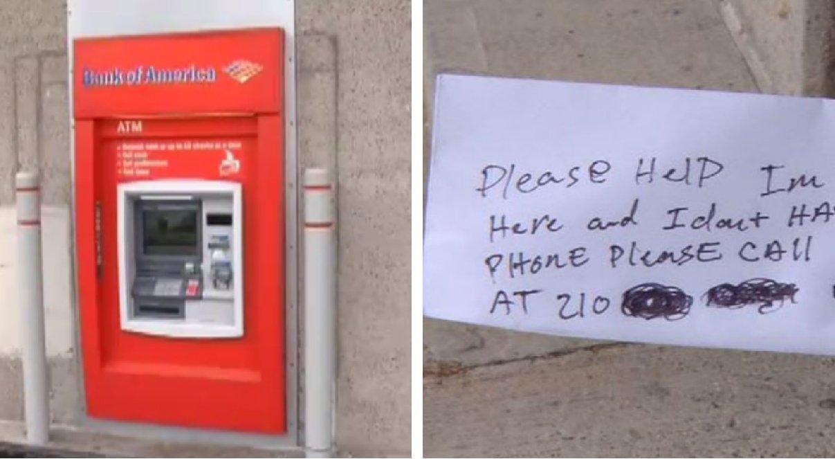 Рабочий застрял внутри банкомата в США, но все думали, что он шутит